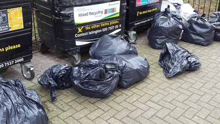Fly-tipping from Papa Winny's. Picture: Islington Council