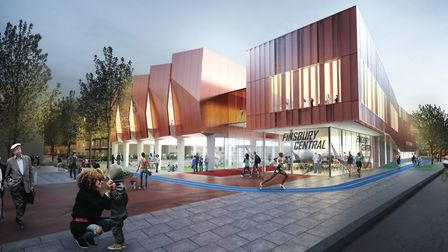 Pollard Thomas Edwards Architects' initial plans for the the Finsbury Leisure Centre.