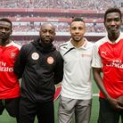Arsenal in the Community launches its joint scheme with Centrepoint. Nathan Auguste and Francis Coqu