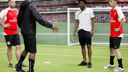 Arsenal in the Community launches its joint scheme with Centrepoint. Ainsley Maitland-Niles, second
