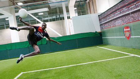 Arsenal in the Community launches its joint scheme with Centrepoint. A spectacular scissor kick duri