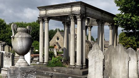 Funerary buildings at Willesden Jewish Cemetery (United Synagogue Cemetery), London, 1872-73 listed