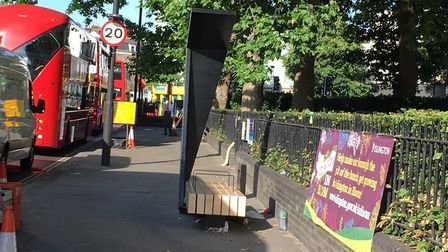 A smart bench by Islington Green. Picture: Islington Council