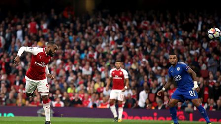 Alexandre Lacazette heads Arsenal in front inside two minutes (pic Nick Potts/PA)