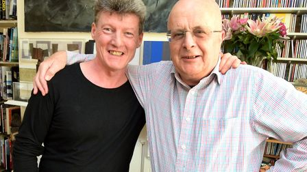 Artist Gary Power with Tim Sayer. Picture: Polly Hancock
