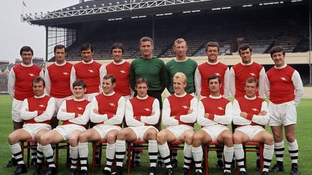 Arsenal squad photo at Highbury, 1968. Picture: PA