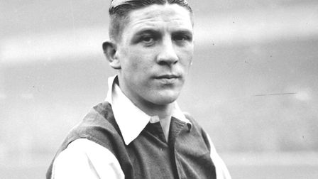 Arsenal legend Ted Drake, pictured in 1934, was one of the first players to wear the red and white s