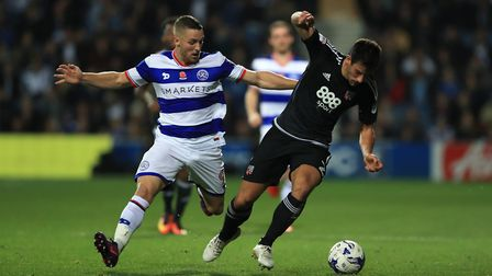 Conor Washington (left) was on target for Queens Park Rangers in their Championship clash against Re