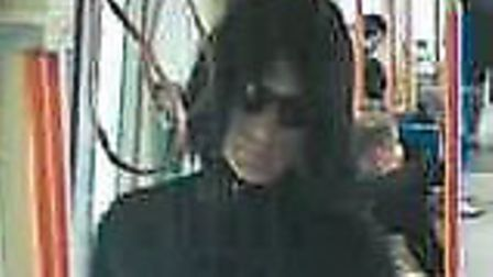 A CCTV still of a suspect following the exposure incident on an Overground train between Canonbury a