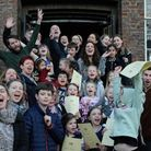 Staff and students outside the Young Actors Theatre. Picture: Young Actors Theatre