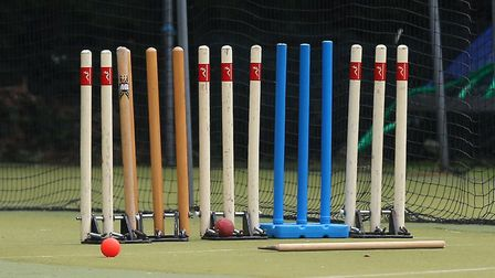 Sets of cricket stumps are lined up (pic Gavin Ellis/TGS Photo)