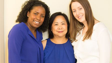 L-R Geraldine Landell, senior health care assistant, Dr Ethie Kong, GP and Chair for Brent CCG and N