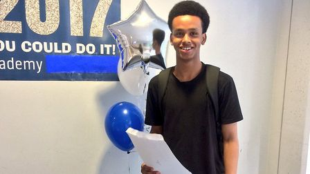 Osman from Crest Academy collected his GCSE results this morning.