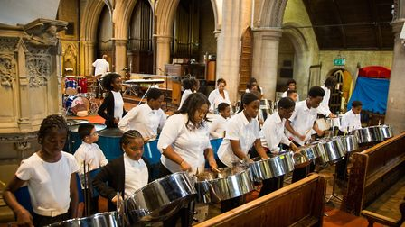 St Michael and All Angels Steel Orchestra Pic credit: Jonathan Goldberg