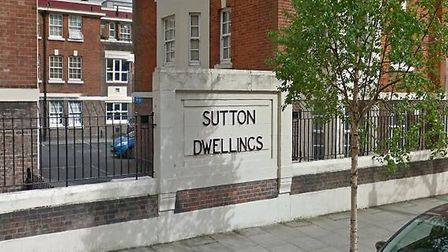 Police were called to the stabbing on the Sutton Estate, off Upper Street, just before 6am. Picture: