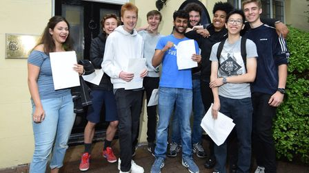 A-level results day at Northbridge House School, Canonbury.