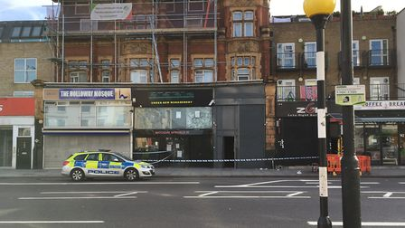 Police tape in Holloway Road on Monday morning. Picture: Ramzy Alwakeel
