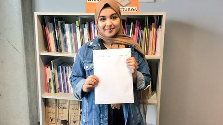 Ayesha Faisi is delighted to be heading to Queen Mary University Picture: The Crest Academy