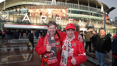 FC Koln fans outside The Emirates. Picture: Nick Potts/PA Wire