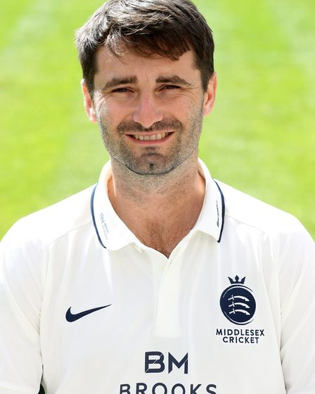 Middlesex's Tim Murtagh added 18 valuable runs before bowling a penetrating spell. Credit PA
