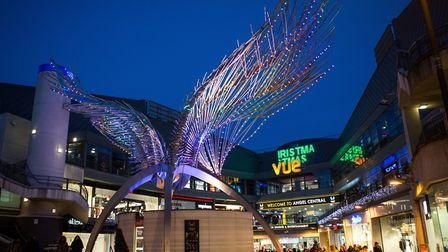 Angel Central has disowned the huge wings sculpture. Picture: Angel Central