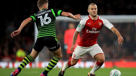 Arsenal's Jack Wilshere during the Carabao Cup, Third Round match at the Emirates Stadium, London.