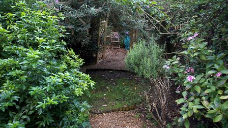 The garden at the Maytree shelter in Moray Road, Finsbury Park. People who feel they are at risk of