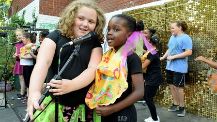 Children perform at the Toffee Park Adventure Playground Talent Show. Picture: Polly Hancock