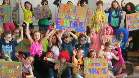 Yerbury Primary Scholl students recorded 'schools just wanna' have funds' in protest against educati
