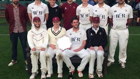 North Middlesex celebrate their cup final win over Harrow St Mary