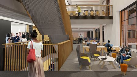 A digital impression of what London Met's new teaching and learning centre will look like.