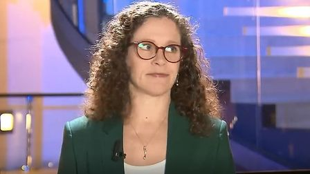 Dutch MEP Sophie in't Veld exasperated by Channel 4 News questioning. Photograph: Channel 4.