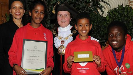 Copenhagen Primary School won silver in the 'best children's planting' category at Islington in Bloo