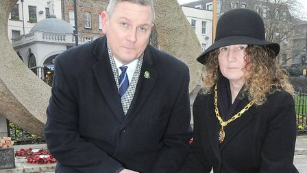 Cllr Gary Poole pictured at the Islington Green war memorial in February. Picture: Islington Council