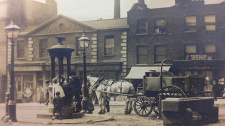 Clerkenwell Green in the late 19th century, with the library behind. Picture: Islington Council