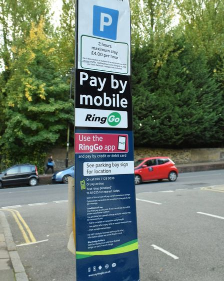 The parking notice in Waterlow Road. Picture: Polly Hancock