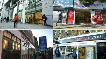 These stores were all given hygiene ratings of 2 by the Food Standards Agency. Pictures: Polly Hanco