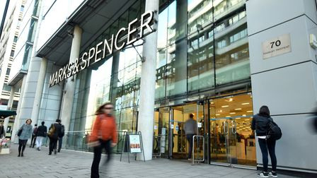 Marks and Spencer in Finsbury Pavement was given a hygiene rating of 2. Picture: Polly Hancock