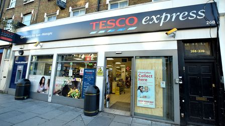 Tesco Express in Seven Sisters Road was given a hygiene rating of 2. Picture: Polly Hancock