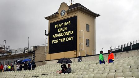 A scoreboard gives the bad news to supporters (pic David Jones/PA)