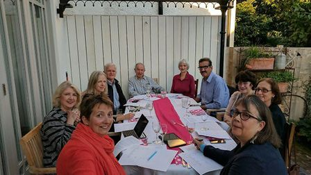 Friends of Cricklewood Library put their heads together at a fundraising meeting (Picture: FoCL)