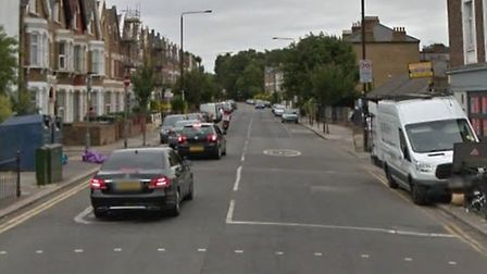 Police found a man stabbed in Upper Tollington Park after a car crashed. Picture: Google