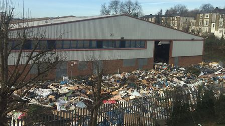 Earlier this year the Bush industrial estate off Holloway Road was completely covered in commercial