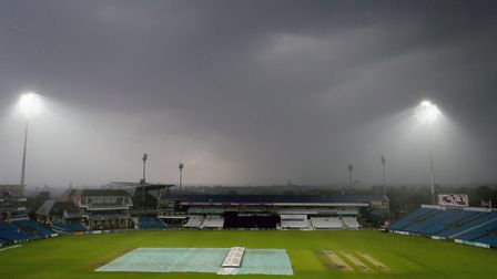 The covers are on at Headingley (pic Richard Sellers/PA)