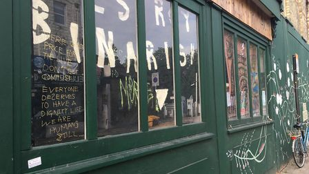 Squatters have moved into The Hopsmiths pub in Crouch Hill. Picture: Sam Gelder