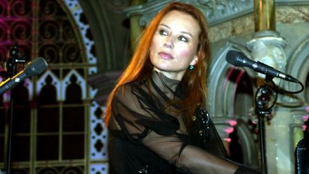 Tori Amos rehearsing before her 2001 concert at Union Chapel. Picture: Yui Mok/PA