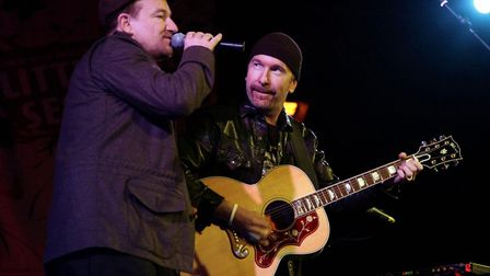 Bono and The Edge performing on stage at Union Chapel in 2007. Picture: Yui Mok/PA Wire