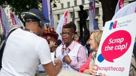Cecilia Anim CBE has called upon the goverment to scrap the public sector pay cap Picture: Royal Col