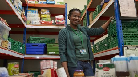 Michele Lawrence, manager of Brent Foodbank, run by the Trussell Trust