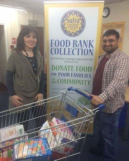 Cllr Roxanne Mashari with Mohammed Mamdani the director of Sufra